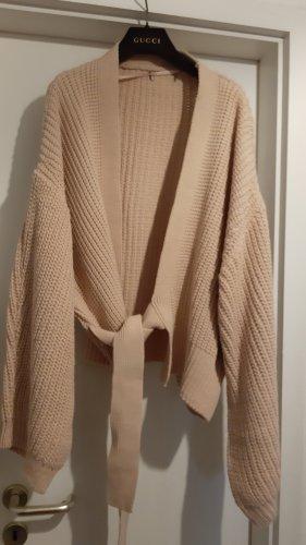 primarkt Veste tricotée en grosses mailles vieux rose