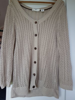 H&M Coarse Knitted Jacket cognac-coloured-beige