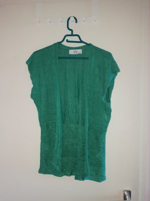 Steilmann Short Sleeve Knitted Jacket green
