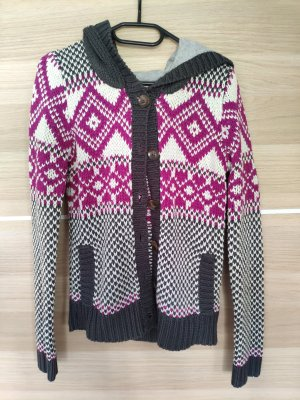 Clockhouse Coarse Knitted Jacket multicolored