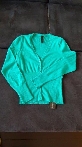 Marc Cain Chaqueta estilo camisa turquesa-azul cadete Cachemir