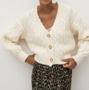 Mango Sweter z grubej dzianiny w kolorze białej wełny
