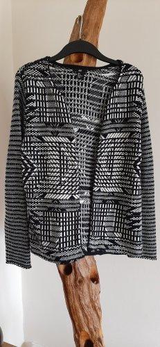 H&M Blazer in maglia nero-bianco sporco