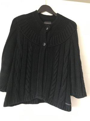 Marco Polo Veste tricotée en grosses mailles noir coton