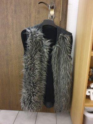 Cappotto a maglia grigio scuro