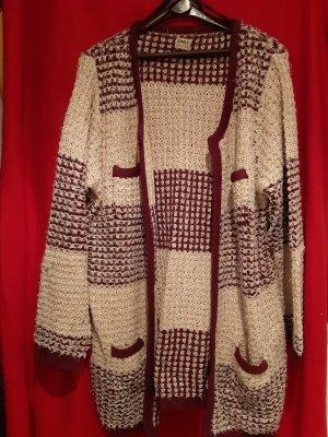 Only Manteau en tricot rouge foncé