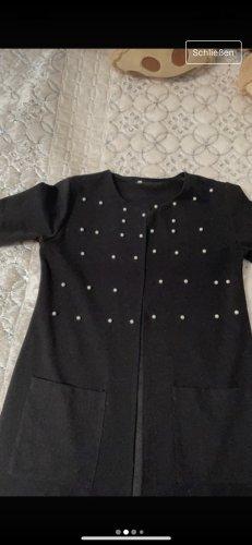 Płaszcz z dzianiny czarny
