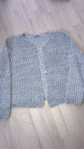 Knitted Vest white-azure