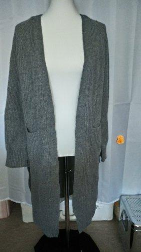 Ohne Coarse Knitted Jacket dark grey-grey