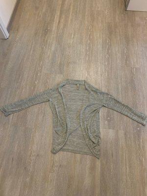 Multiblu Short Sleeve Knitted Jacket lime-green-white