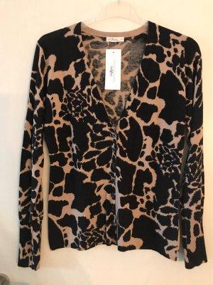 TARANKO Wełniany sweter beżowy-czarny