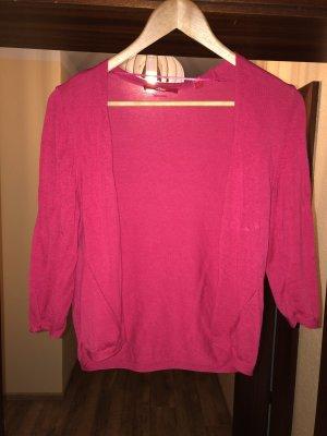 s.Oliver Short Sleeve Knitted Jacket pink-magenta