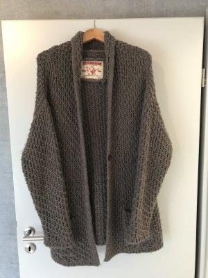 True Religion Cardigan a maglia grossa marrone-grigio-talpa