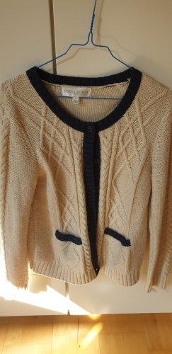 Edina Ronay Coarse Knitted Jacket cream