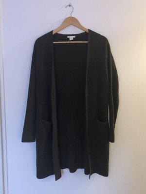 H&M Wełniany sweter ciemnozielony