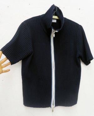 Bonita Short Sleeve Knitted Jacket dark blue