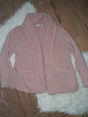 NUUC Coarse Knitted Jacket dusky pink