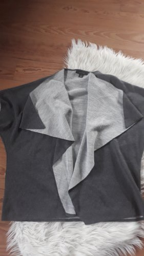 Atmosphere Short Sleeve Knitted Jacket light grey-grey