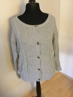Violeta by Mango Wełniany sweter srebrny