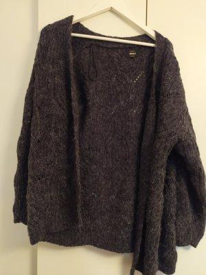 Only Veste en laine gris foncé coton