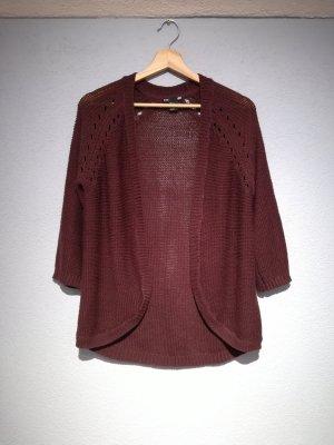 H&M Veste tricotée en grosses mailles bordeau