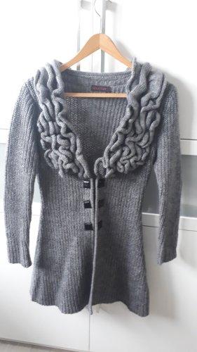Cardigan a maglia grossa grigio