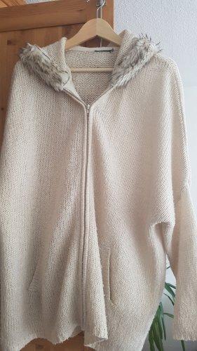Street One Veste tricotée en grosses mailles gris brun-blanc cassé