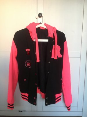 I LOVE DITO College Jacket black-neon pink
