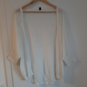 Pimkie Short Sleeve Knitted Jacket white cotton