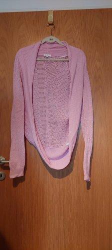 Dept Giacca in maglia rosa chiaro