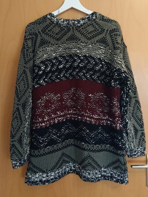 Aniston Cardigan grey-bordeaux