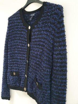 Armani Jeans Pull tricoté noir-bleu foncé