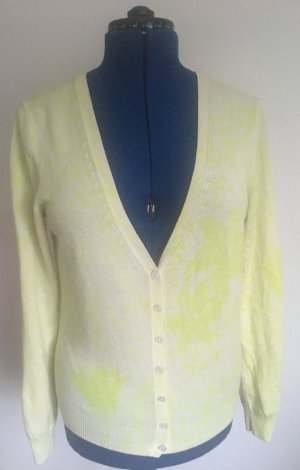 Allude Knitted Cardigan natural white-meadow green cashmere