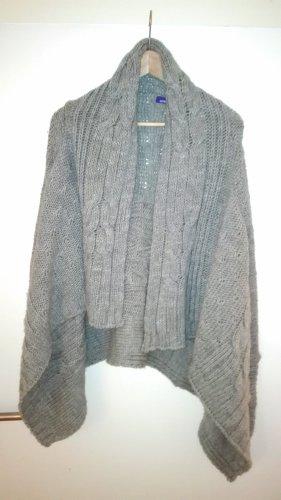 Mexx Cardigan a maglia grossa grigio chiaro Tessuto misto