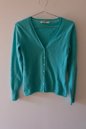 S.Marlon Knitted Cardigan turquoise cashmere