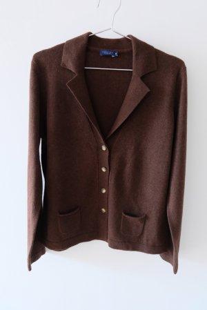 Darling Harbour Cardigan in maglia marrone scuro Cachemire