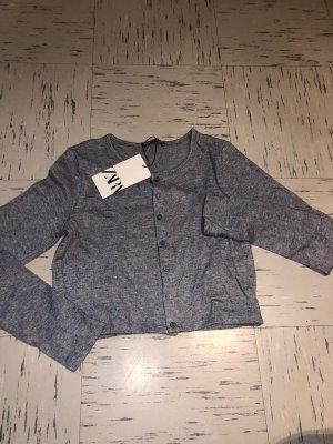 Zara Top lavorato a maglia grigio