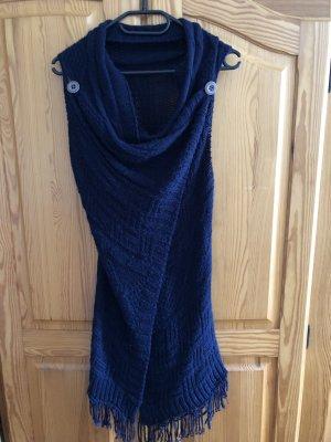 Szydełkowany sweter ciemnoniebieski
