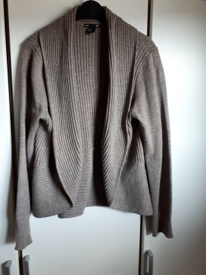 Basic Knitted Cardigan grey brown