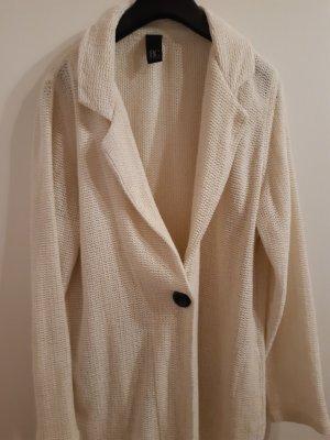 BC Veste tricotée en grosses mailles beige clair