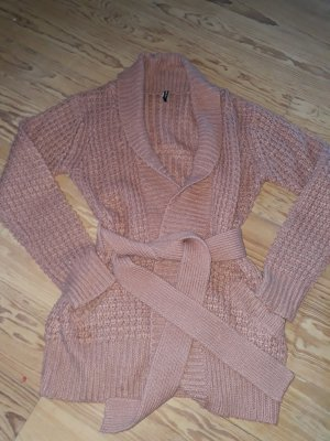 B.young Coarse Knitted Jacket dusky pink