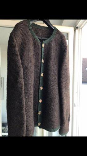 1 brand Chaqueta de lana verde bosque-marrón grisáceo
