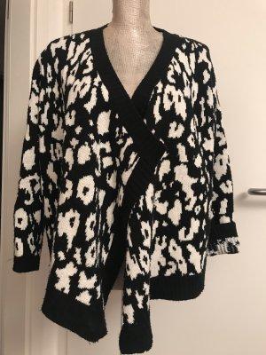 Chaqueta de lana negro-blanco
