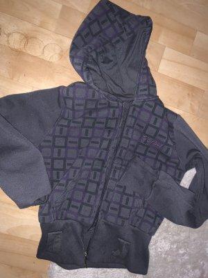 Veste tricotée en grosses mailles gris foncé