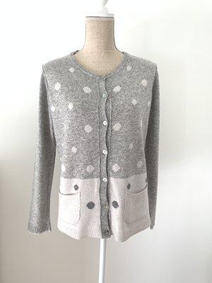 Benedetta B. Giacca in maglia grigio chiaro-bianco sporco Cachemire