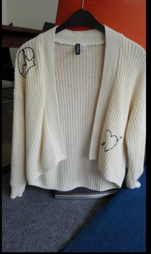 H&M Coarse Knitted Jacket cream