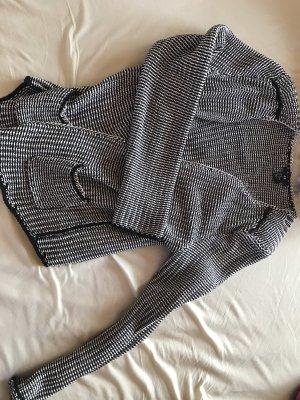 H&M Veste chemisier noir-blanc