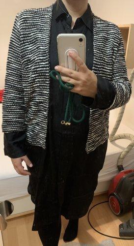 H&M Gebreide blazer zwart-room