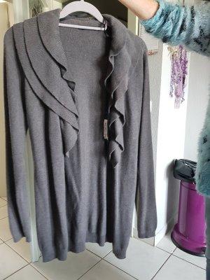 Yaya Blazer tejido gris-marrón grisáceo