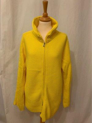 Strickjacke Bogner gelb Reißverschluss Taschen
